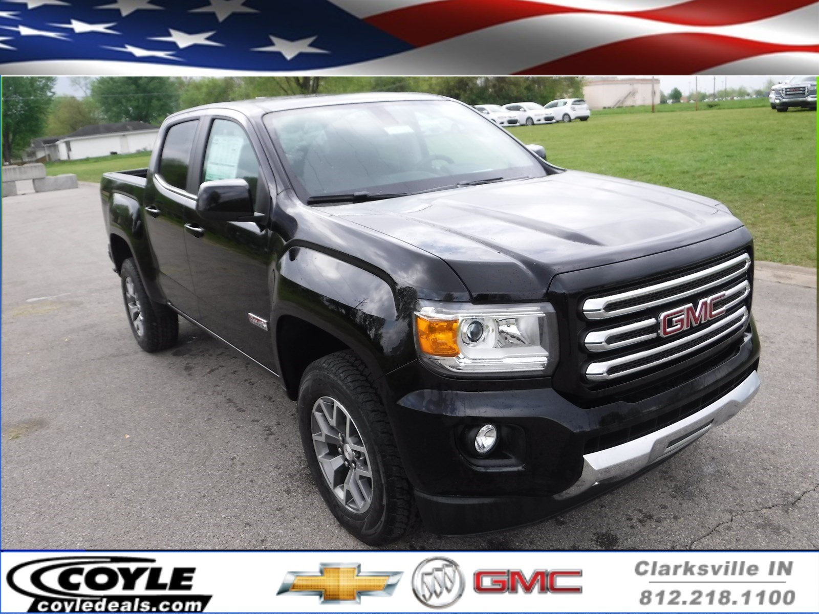 new 2017 gmc canyon 4wd sle crew cab pickup in clarksville g17328 coyle chevrolet. Black Bedroom Furniture Sets. Home Design Ideas